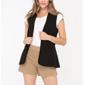 🆕Sz SMALL Layered Open Front Vest